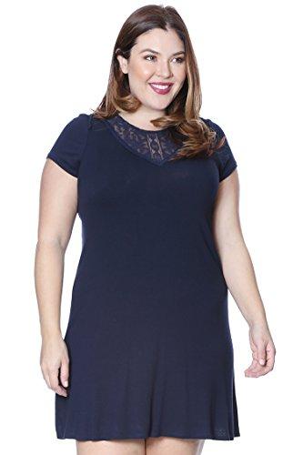 Neckline Knit Dress - 7