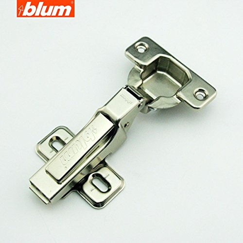 (8 Pcs) Blum Clip Top 100 Degree Standard Hinge Kitchen Cabinet Cupboard Door Hinge without BLUMOTION 71M2650, Half Overlay /Dual Hinge, Fast Assembly, Made in Austria (Blum Hinges For Kitchen Cabinets)