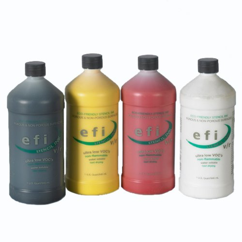 Marsh 'efi' White Stencil Ink Quart Bottle by Marsh