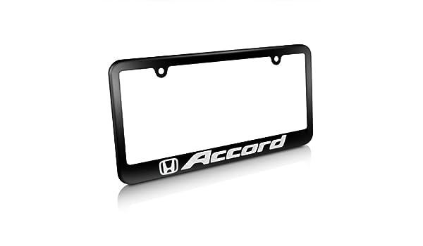 Honda Accord Matte Black Metal License Plate Frame Universal Brass