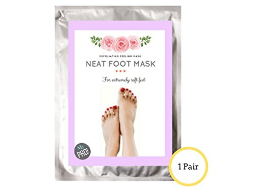 Natural exfoliating foot peel treatment by Mypro, for dry rough cracking callused feet, will res ...