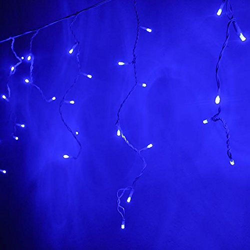 Blue And White Icicle Outdoor Christmas Lights