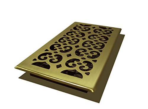 Decor Grates SPH612-A Scroll Floor Register, 6-Inch by 12-Inch, Antique Brass