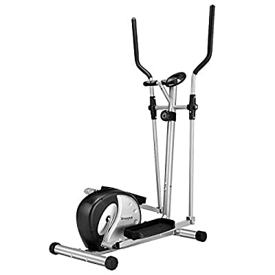 Gharpbik Heavy Duty Elliptical Machine Trainer-Magnetic Smooth Quiet Driven with LCD Monitor and Pulse Rate Grips for Home Gym(Model:WE902H)