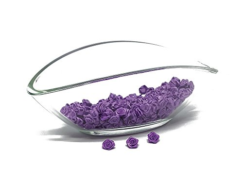 flexistore 100 x Rosas Decorativas - Flores 15mm - decoracion de la Mesa - Purp