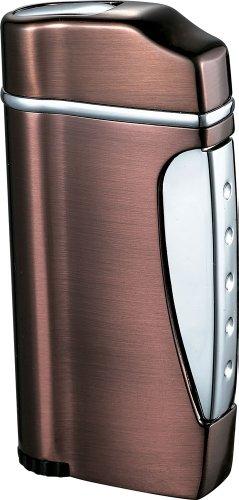 (Visol Nolet Satin Bronze Wind-Resistant Torch Flame Lighter)