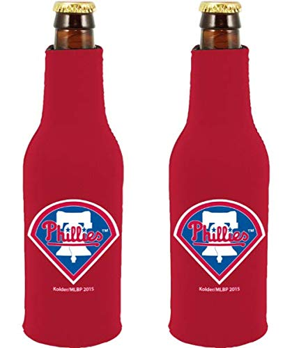 - MLB Baseball Team Color Logo Bottle Suit 12oz Neoprene Holder Zipper Sleeve Cooler 2-Pack (Philadelphia Phillies)