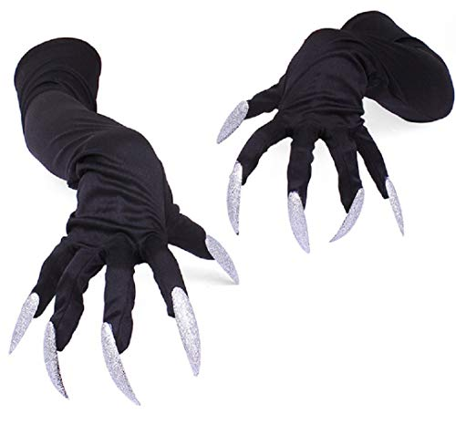 OAKBaby Halloween Costume Gloves Scary with Nails Fingernails Glover Claws Halloween Horror Props for Costume Party -