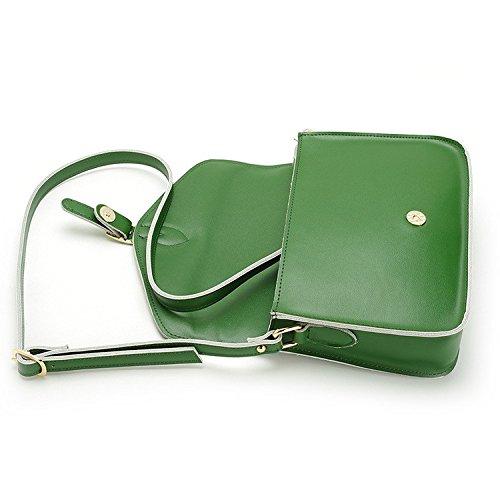 bag green the Single Green shoulder postman bag retro The handbags package Pipulade diagonal x4SqRw