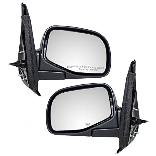 Driver and Passenger Power Side View Mirrors Heated Replacement for Ford Explorer F5TZ17683C F5TZ17682C