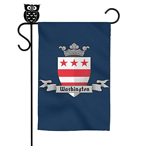 - ZhongQi Washington Logo-Crown Garden Flags Yard Flags Outdoor Flags House Flag 12x18 Inch