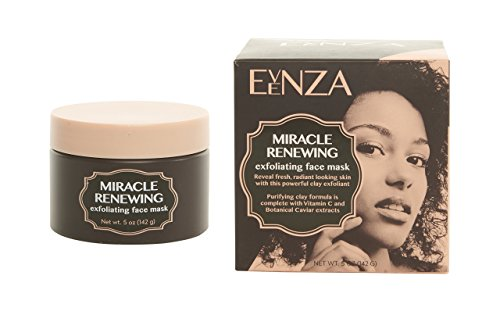 Evenza Miracle Renewing Exfoliating Face Mask for age spots and uneven skin tone. Vitamin C Clay Mask with Argan Oil and Ferulic Acid. Large 5oz jar.