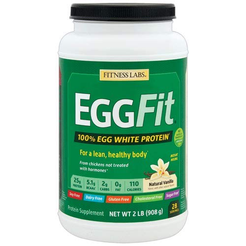 Fitness Labs EGGFit – Egg White Protein Instant Mixing (2 Pounds, Natural Vanilla)