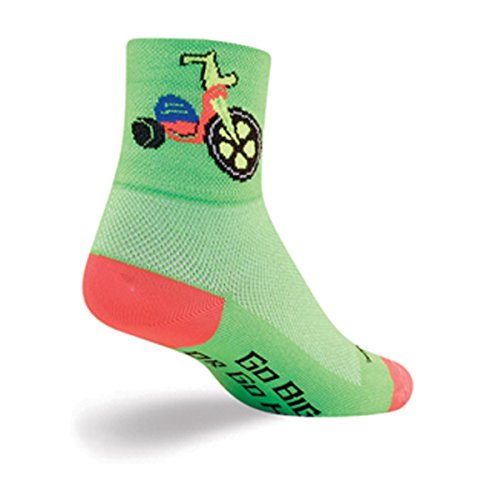 SockGuy, Classic Socks, 3-Inch Cuff Height - Small/Medium, Bigger Wheel, Go Big or Go Home (Best Bicycle For Big Guys)