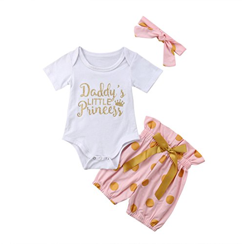 5d379b400 3Pcs Baby Girl Mermaid Clothes Letter Romper Bodysuit Short Pants Outfit Set  with Headband