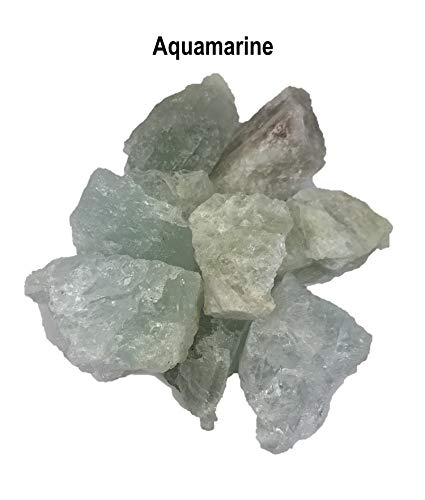 Gypsy Palace Online NEW Aquamarine Chunks Untumbled and Rough - Wholesale Minerals; By-the-Pound ()