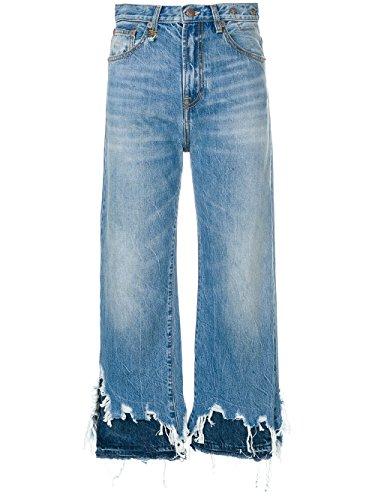 R13 Femme R13W5668147JASPER Bleu Claire Coton Jeans