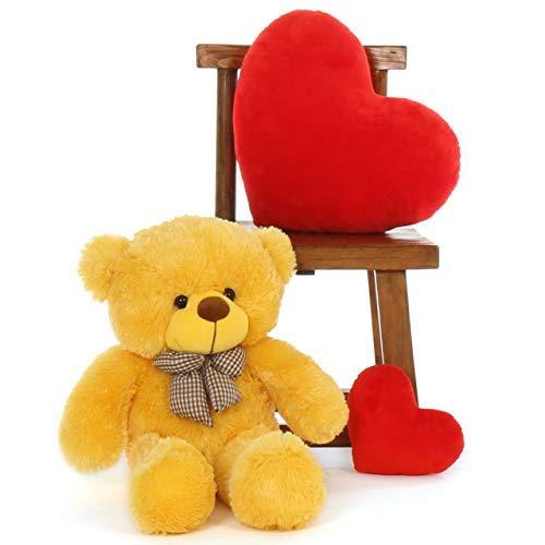 MAH Toys Lov Teeddy Bear 2 feet Yellow 60 cm