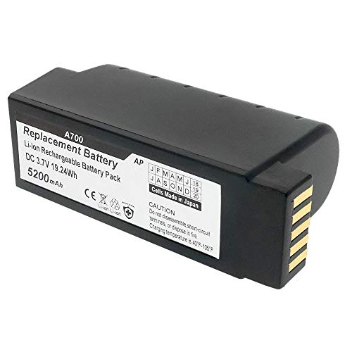 Artisan Power Vocollect Talkman A700, A710, A720 and A730 Scanners: Replacement Battery. 5000 mAh