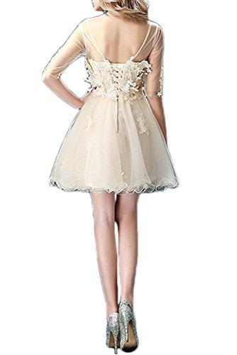Missdressy - Vestido - trapecio - para mujer champán