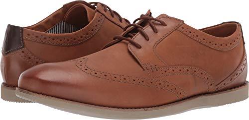 (CLARKS Men's Raharto Wing Oxford, Dark tan Leather, 080 M US)