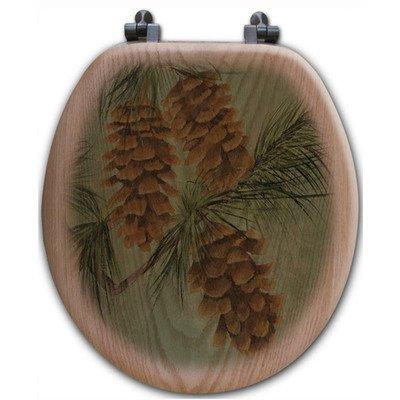 (WGI-GALLERY TS-R-PCN Pine Cone New Round Toilet Seat)