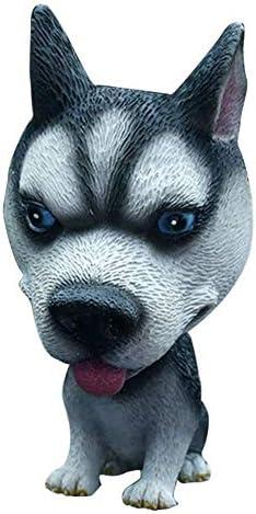 Lingtaihe 12CM Husky Hund Wackelkopf Nicken Hund Innen Ornamente Lustige Cartoon Welpen Sch/ütteln Kopf Abbildung Mini Wackelkopf Spielzeug f/ür Auto Wohnen Dekoration