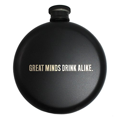 Kenneth Cole Reaction Men's Stainless Steel 'Great Minds Drink Alike' Narrow, Round Flask, - Flask Designer