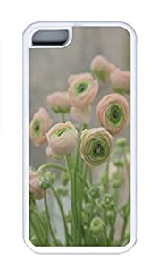 iPhone 5C Case, Personalized Custom Rubber TPU White Case for iphone 5C - Little Flowers Cover