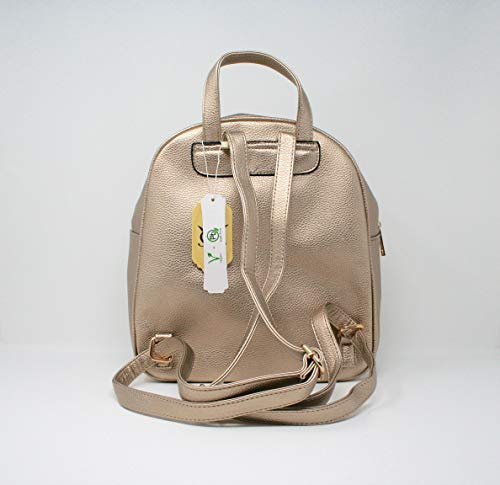 Teddy Bear Backpack Champagne Women Aj188 Casual Maia Bag Girls Fashion or for Patch Leather qnwCZ1T