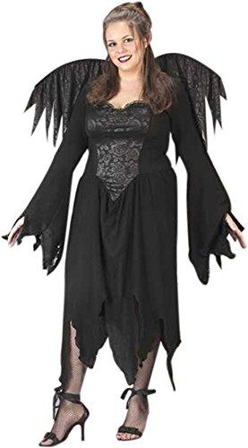 Plus Size Black Rose Fairy Costume Size: Women's Plus 16-20