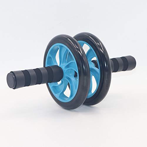 Buikwiel Buikspieroefening Roller Dual Wheel Met Schuim Handles – Inclusief Extra Thick Knee Pad – Ab Wheel Ab Roller…