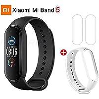 Smartband Xiaomi Mi Band 5 Bluetooth 5.0, Versão Chinesa Sem NFC - Lançamento 2020 (Preto + 1 Pulseira Extra + 2 Películas)