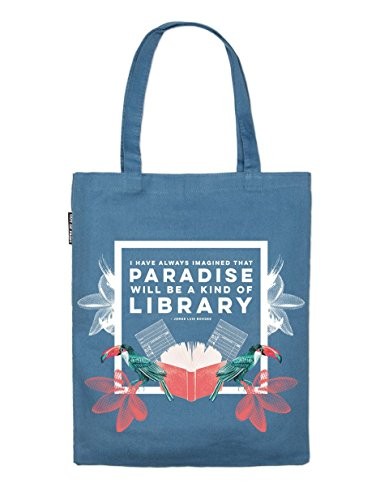 Book Riot by Out of Print JORGE LUIS BORGES PARADISE TOTE ()