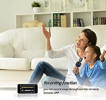 Microfono inalambrico karaoke Bluetooth Gris Android Regalo para amigos y ninos Compatible con IOS PC y otros productos inteligentes Reproductor NINE CUBE karaoke mic 3 en 1 de mano