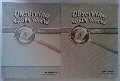 Student Worksheet - Observing God's World Grade 6 Student Test's and Student Quizzes/worksheets