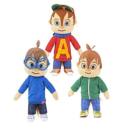 "Alvin and the Chipmunks 8.5"" Plush Set - Simon and Theodore: Toys & Games"