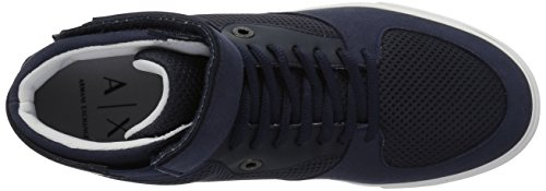 Exchange X Sky and Captain Sneaker Top Armani Detail Ankle A 9550337A047 Mesh Mens Strap with High REqnwFd