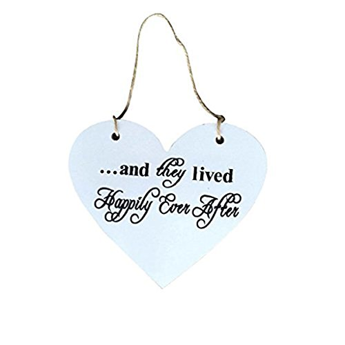 Tinksky Heart shape Here Comes the Bride Sign Classic Wooden Wedding Decoration