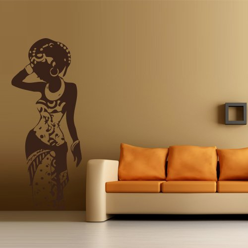 amazoncom wall decal art decor decals sticker woman africa lady tribe ethiopia beauty m181 home kitchen - Wall Art Design Decals