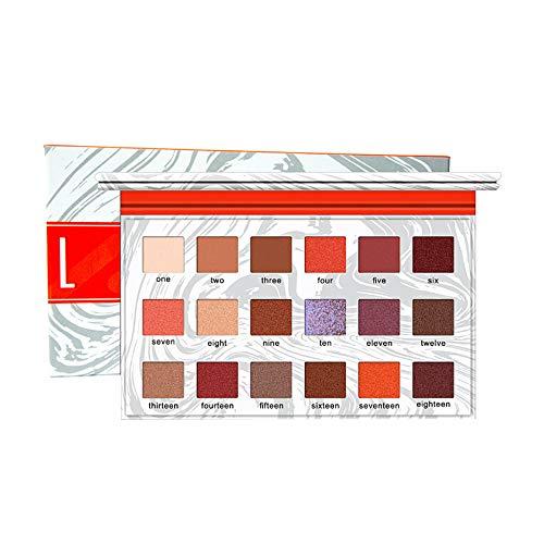 Redvive Top 18 Color Waterproof Brush Eye Shadow Plate Powder Matt Eyeshadow Cosmetic Makeup