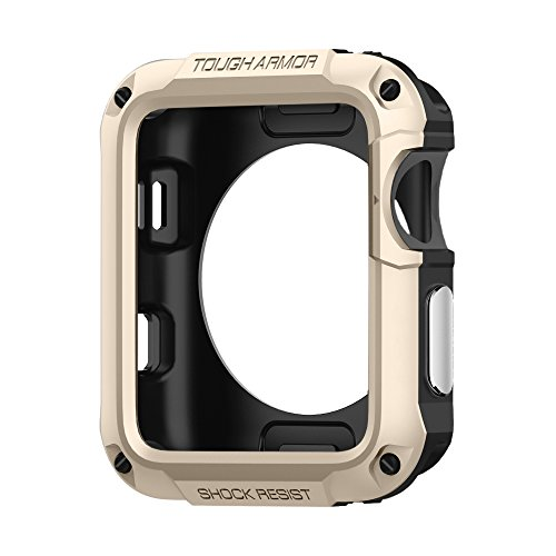 Spigen Tough Armor Designed for Apple Watch Case for 42mm Series 3 / Series 2/1 / Original (2015) / Nike+ Sport Edition and Built in Screen Protector -Champagne Gold
