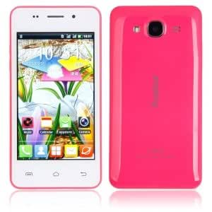 """Royalstar ip5 4.0"""" Android 4.2.2 Single Core GSM Cellphone ( Free Case) Pink"""