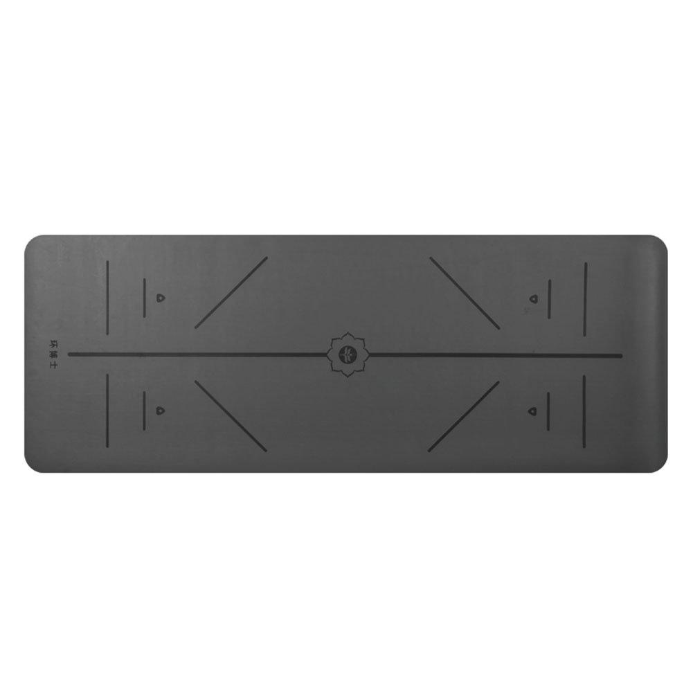 QIDI Yogamatte Gummi Erweitern Rutschfest Fitness Übung Aerobic-Matte 183  68  0,5cm (Farbe   T-6)