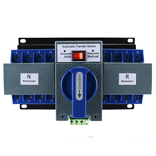 Yaegoo Mini Dual Power Automatic Transfer Switches Self Cast Conversion 50/60HZ AC-33iB AC 400V 63A 4P ATS CB Level M6