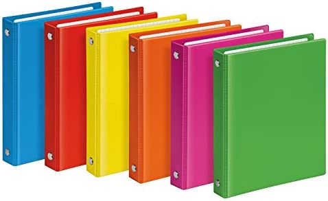 Veloflex 1164371 Velocolor - Archivador de anilla, DIN A6, 4 anillas, color rosa: Amazon.es: Oficina y papelería