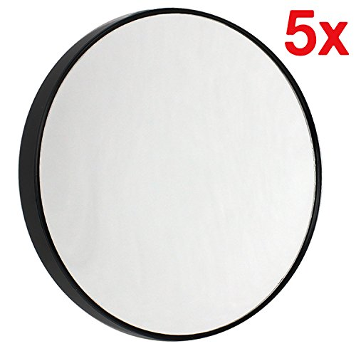 Contour Vanity Bathroom (5X Round Magnifying Makeup Vanity Mirror Detachable With Suction Cups by bogo Brands)