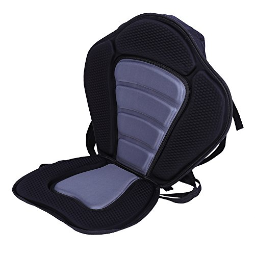 - Padded Kayak Seat with Back Support and Storage, Waterproof,Universal,Vinyl Foam