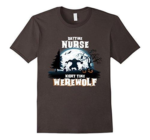 Mens Nurse Werewolf At Night Halloween Costume Shirt Small Asphalt