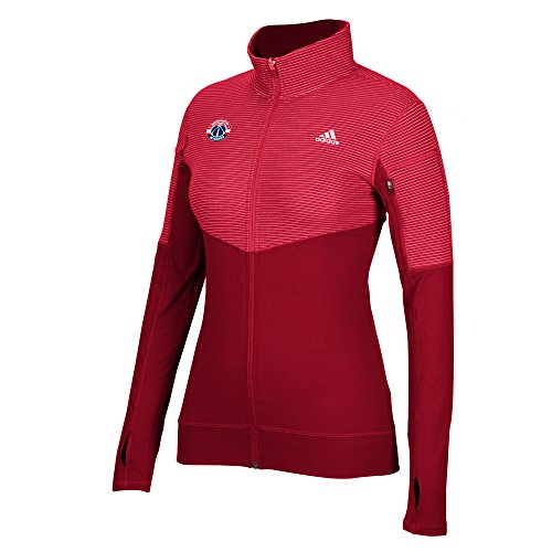 NBA Washington Wizards Women's Team Logo Lightweight Full Zip Jacket, Medium, Red